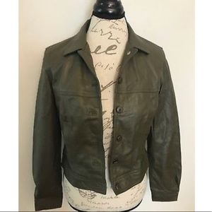 NWT Newport News Leather&Suede Jacket